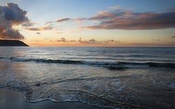 Ηλιοβασίλεμα θαλασσίως Στοκ Φωτογραφίες