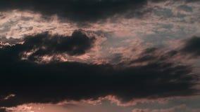 Ηλιοβασίλεμα θερινών σύννεφων timelapse απόθεμα βίντεο