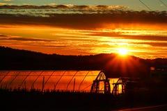 Ηλιοβασίλεμα θερμοκηπίων Στοκ φωτογραφία με δικαίωμα ελεύθερης χρήσης