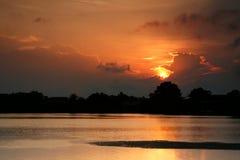 Ηλιοβασίλεμα λιμνοθαλασσών Στοκ εικόνες με δικαίωμα ελεύθερης χρήσης