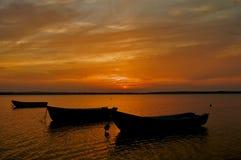 Ηλιοβασίλεμα λιμνών Στοκ Εικόνες