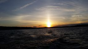 Ηλιοβασίλεμα λιμνών Ambejesus Στοκ εικόνες με δικαίωμα ελεύθερης χρήσης