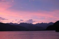 Ηλιοβασίλεμα λιμνών Como Στοκ εικόνες με δικαίωμα ελεύθερης χρήσης