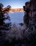 Ηλιοβασίλεμα λιμνών Watson Στοκ Φωτογραφίες