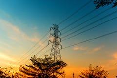 ηλιοβασίλεμα ισχύος γρ&al Στοκ Εικόνες