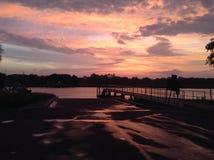 Ηλιοβασίλεμα Ι σαβανών Στοκ Φωτογραφία