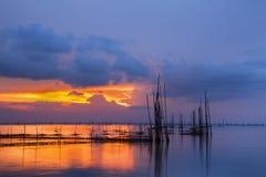 Ηλιοβασίλεμα και λίμνη Στοκ Φωτογραφία