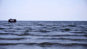 Ηλιοβασίλεμα και κύμα θάλασσας Στοκ φωτογραφίες με δικαίωμα ελεύθερης χρήσης