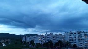 Ηλιοβασίλεμα και σύννεφα στη Στάρα Ζαγόρα Στοκ Φωτογραφία