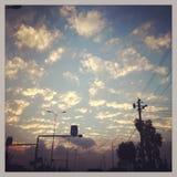 Ηλιοβασίλεμα και σύννεφα Στοκ εικόνα με δικαίωμα ελεύθερης χρήσης