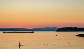 Ηλιοβασίλεμα και montains Στοκ εικόνα με δικαίωμα ελεύθερης χρήσης