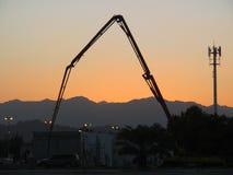 Ηλιοβασίλεμα κατασκευής στοκ εικόνες
