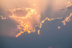 ηλιοβασίλεμα καψίματο&sigmaf Στοκ φωτογραφίες με δικαίωμα ελεύθερης χρήσης