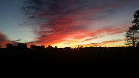 ηλιοβασίλεμα καύσης Στοκ Φωτογραφία