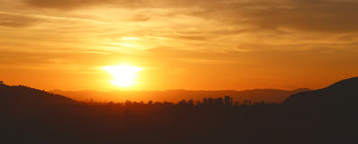 ηλιοβασίλεμα Καλιφόρνιας Στοκ Εικόνες