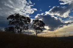 Ηλιοβασίλεμα κοιλάδων στοκ εικόνες