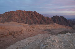 Ηλιοβασίλεμα κοντά σε Eilat, βουνό Yehoash στοκ εικόνες με δικαίωμα ελεύθερης χρήσης