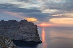 Ηλιοβασίλεμα κορυφογραμμών Bernat Cavall Στοκ εικόνες με δικαίωμα ελεύθερης χρήσης