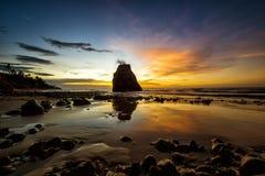 Ηλιοβασίλεμα Κουάλα Penyu Sabah Στοκ Φωτογραφία
