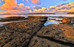 Ηλιοβασίλεμα κόλπων Jervis Στοκ Εικόνες