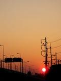 Ηλιοβασίλεμα μέσα κεντρικός Στοκ εικόνα με δικαίωμα ελεύθερης χρήσης