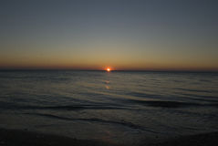 ηλιοβασίλεμα Μαύρης Θάλασσας Στοκ Φωτογραφίες