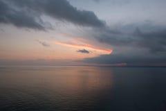 ηλιοβασίλεμα Μαύρης Θάλασσας Στοκ Εικόνες