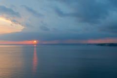 ηλιοβασίλεμα Μαύρης Θάλασσας Στοκ εικόνες με δικαίωμα ελεύθερης χρήσης