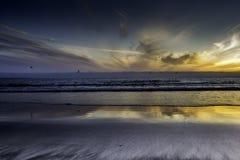Ηλιοβασίλεμα μεσάνυχτων Στοκ φωτογραφία με δικαίωμα ελεύθερης χρήσης