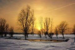 Ηλιοβασίλεμα μελιού Στοκ Φωτογραφίες