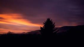Ηλιοβασίλεμα με την άποψη στο μεγάλο Arber Στοκ Εικόνες