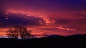 Ηλιοβασίλεμα με την άποψη στο μεγάλο Arber Στοκ Εικόνα