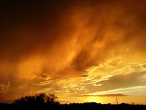 Ηλιοβασίλεμα μουσώνα Στοκ εικόνες με δικαίωμα ελεύθερης χρήσης