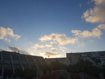 ηλιοβασίλεμα μπλε ουρ&al Στοκ φωτογραφία με δικαίωμα ελεύθερης χρήσης