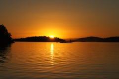 Ηλιοβασίλεμα νησιών του San Juan στοκ φωτογραφία