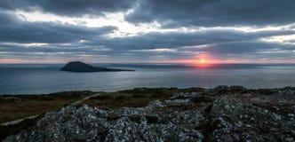 Ηλιοβασίλεμα νησιών Στοκ Εικόνα