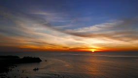 Ηλιοβασίλεμα νησιών Camiguin απόθεμα βίντεο