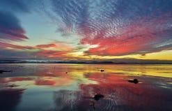 Ηλιοβασίλεμα, νότια Καλιφόρνια Στοκ φωτογραφία με δικαίωμα ελεύθερης χρήσης