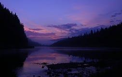 Ηλιοβασίλεμα νύχτας Στοκ Εικόνες