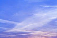 Ηλιοβασίλεμα ουρανού και χρώματα σύννεφων Στοκ Φωτογραφίες