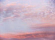 ηλιοβασίλεμα ουρανού σ Στοκ Εικόνα