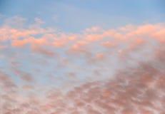 ηλιοβασίλεμα ουρανού σ Στοκ Φωτογραφία