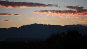 ηλιοβασίλεμα ουρανού &sigma απόθεμα βίντεο