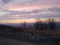 Ηλιοβασίλεμα/ουρανός/ουρανός στη Σλοβακία Στοκ Εικόνα