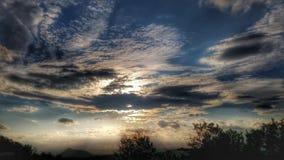 Ηλιοβασίλεμα/ουρανός/ουρανός στη Σλοβακία 2 στοκ εικόνα με δικαίωμα ελεύθερης χρήσης