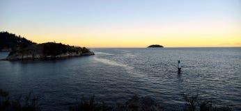 Ηλιοβασίλεμα πάρκων απότομων βράχων Whyte Στοκ φωτογραφία με δικαίωμα ελεύθερης χρήσης