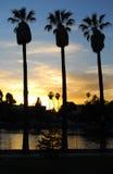 Ηλιοβασίλεμα πάρκων ηχούς, Λος Άντζελες ΙΙ στοκ εικόνα