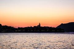 Ηλιοβασίλεμα πέρα από ένα αδριατικό νησί Στοκ εικόνες με δικαίωμα ελεύθερης χρήσης