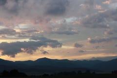 Ηλιοβασίλεμα πέρα από τα βουνά Tatra Στοκ φωτογραφία με δικαίωμα ελεύθερης χρήσης