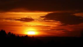 Ηλιοβασίλεμα πέρα από την ισπανική χώρα, Segovia απόθεμα βίντεο